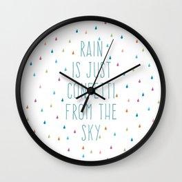 Rain is just confetti Wall Clock