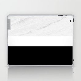 Marble Black White Laptop & iPad Skin