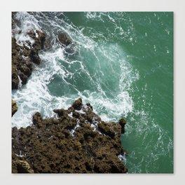 Green Ocean Atlantique Canvas Print