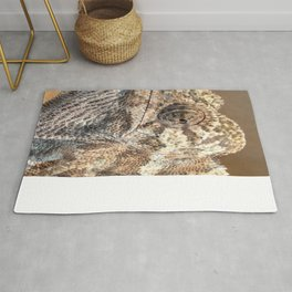 Chameleon With Sinister Facial Expression Rug