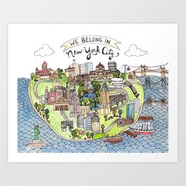 New York City Love Art Print