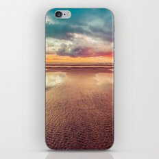 Ocean Sea Beach Water Clouds at Sunset - Hwy 101 Pacific Coast Highway iPhone & iPod Skin