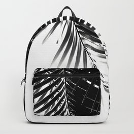 Palm Leaves Black & White Vibes #1 #tropical #decor #art #society6 Backpack