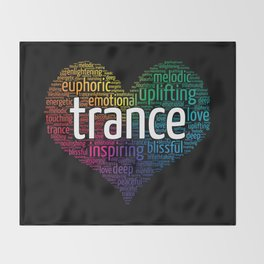 Surrounded with the love of Trance Throw Blanket