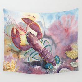 Under The Sea - Colorful Lobster Wall Tapestry