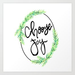 choose joy wreath Art Print