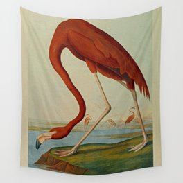American Flamingo by John Audubon (1785 – 1851) Reproduction. Wall Tapestry