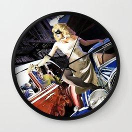 Domino Lady # 5 Wall Clock