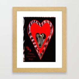 Happy Valentine's Day - Too Cute Framed Art Print