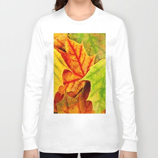 Color Leaves Long Sleeve T-shirt