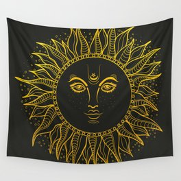 The Golden Sun Wall Tapestry