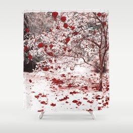 Camellia bush Shower Curtain