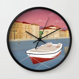 Lefkada, Western Waterfront Wall Clock