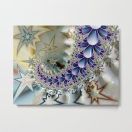 Birth of the Sea Slugs Fractal Metal Print
