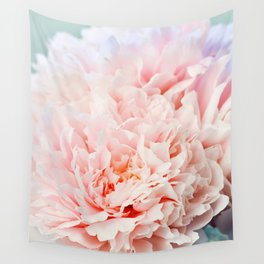 Peony Flower Photography, Pink Peony Floral Art Print Nursery Decor A Happy Life  - Peonies 1 Wall Tapestry
