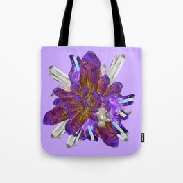 DECORATIVE CLUSTER AMETHYST & QUARTZ CRYSTALS Tote Bag