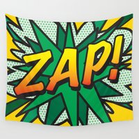 comic book Wall Tapestries featuring Comic Book ZAP! by The Image Zone
