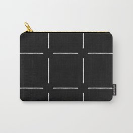 Block Print Simple Squares Carry-All Pouch