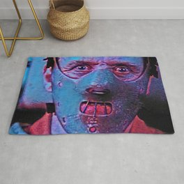 Hannibal Lecter Artistic Illustration Classic Psycho Style Rug