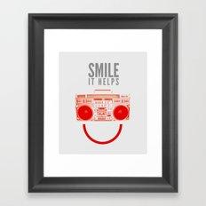 Smile. It Helps. Framed Art Print