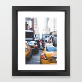 TAXI - CAB - CITY - CARS - PHOTOGRAPHY Framed Art Print