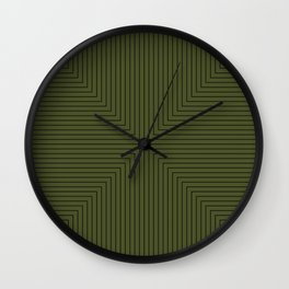 Angular Lines VI Wall Clock
