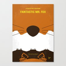 No673 My Fantastic Mr Fox minimal movie poster Canvas Print