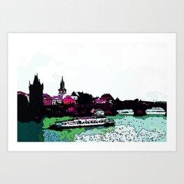 Praha CZ Art Print