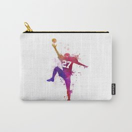 american football player man catching receiving Carry-All Pouch
