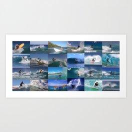 Surf Coaches 2 Art Print