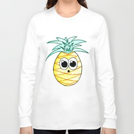 The Suprised Pineapple Long Sleeve T-shirt