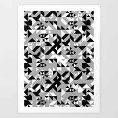 BW Geometric  Art Print