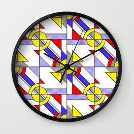 Pop Art Pattern Wall Clock