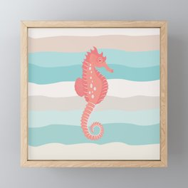 AFE Coral Seahorse Framed Mini Art Print