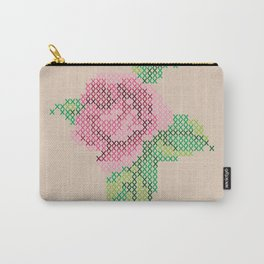 Rose cross stitch Carry-All Pouch