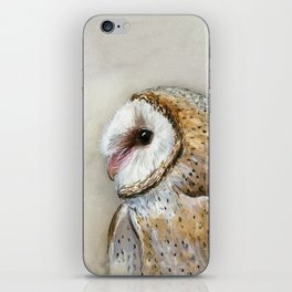 Barn Owl Watercolor, Birds Of Prey Wild Animals Owls iPhone Skin