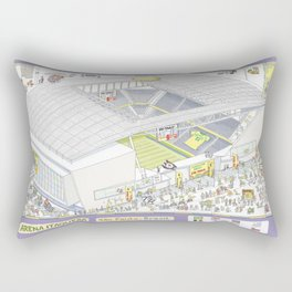 Itaquera Soccer Arena, Sao Paulo, Brazil Rectangular Pillow