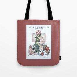 Team Cap Nice Pinup Holiday Card Tote Bag