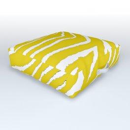 Zebra Golden Yellow Outdoor Floor Cushion