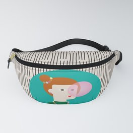 The girl and the bubble gum Fanny Pack