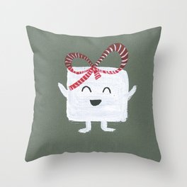 MyHappySquare with a bow Throw Pillow