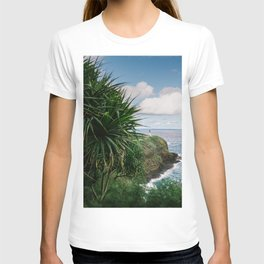 Kilauea Lighthouse Kauai Hawaii | Tropical Beach Nature Ocean Coastal Travel Photography Print T-shirt
