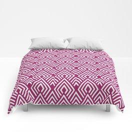 Marsala Diamond Pattern Comforters