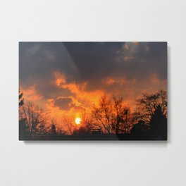 Sunset over Munich Metal Print