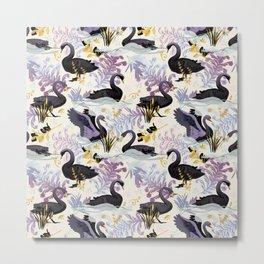 Black swans | off white Metal Print