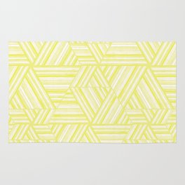 White and yellow weave. Rug