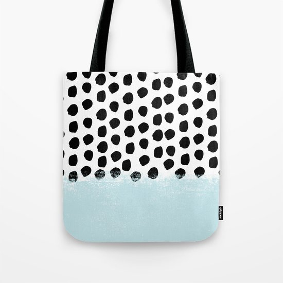 Lolita - Modern mint dots abstract painting minimal design trendy hipster decor dorm office retail  Tote Bag