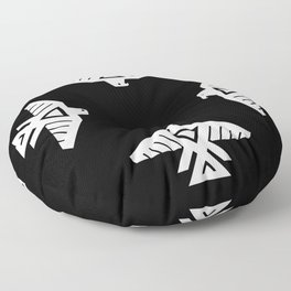 Thunderbird flag - Hi Def image Inverse edition Floor Pillow