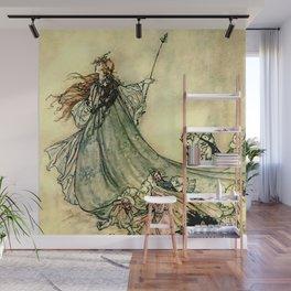 """""""Queen of the Fairies"""" by Arthur Rackham Midsummer's Night Wall Mural"""