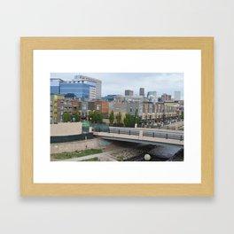 Denver Skyline & Condos Framed Art Print